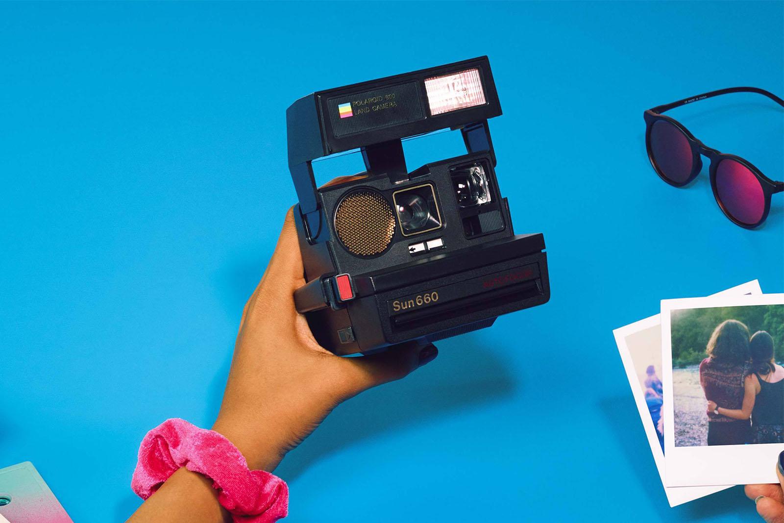 Foto de papel Polaroid Originals Caja para 600 I-Tipo SX-70 Instant película de almacenamiento de información